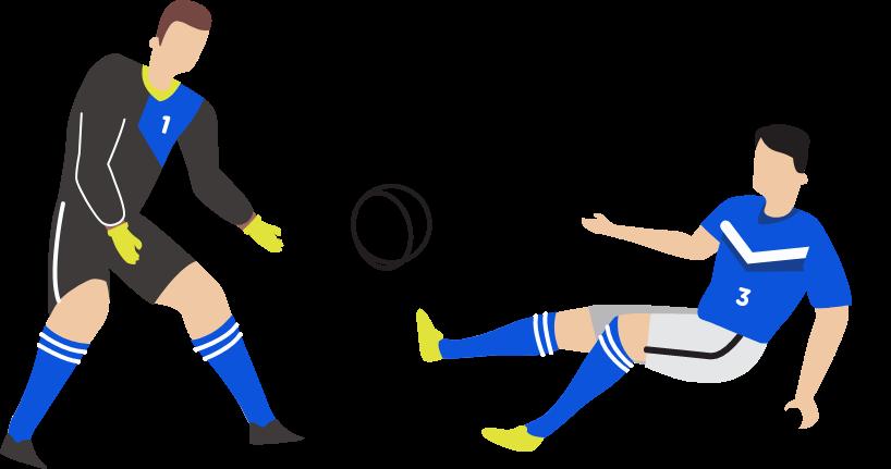 サッカーイラスト